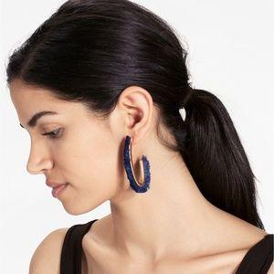 Lucky Brand Navy Fringe Earrings